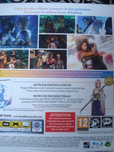 Final Fantasy X/X-2 Hd remaster euro collector back
