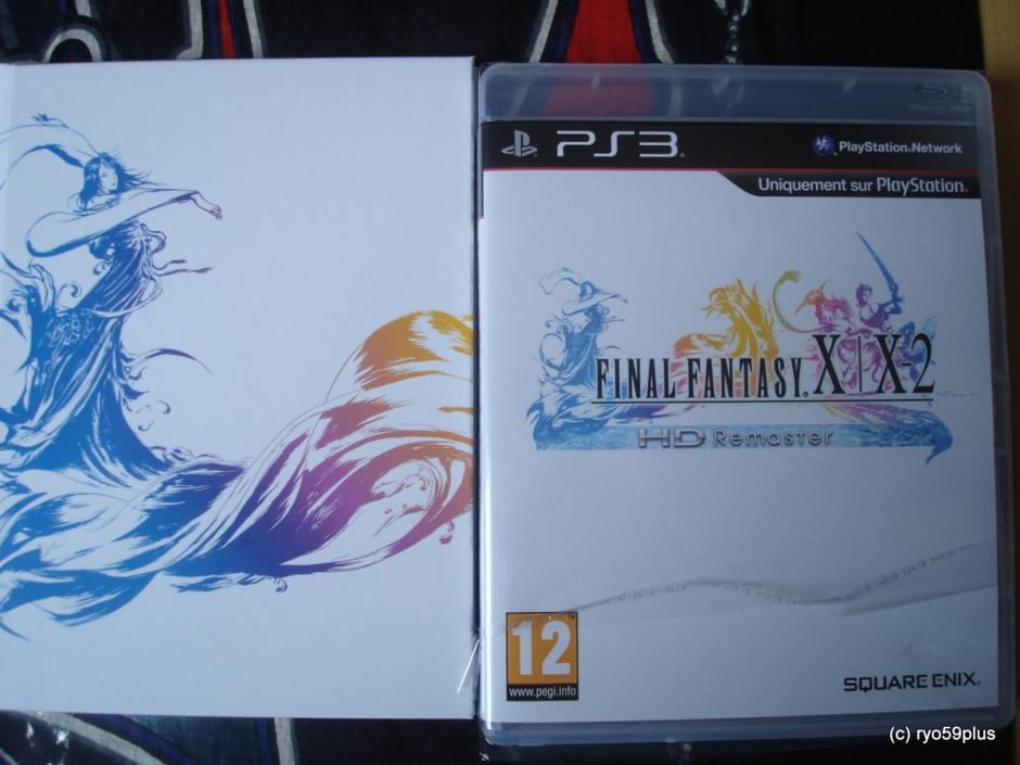 Final Fantasy X/X-2 Hd remaster euro collector game+art book