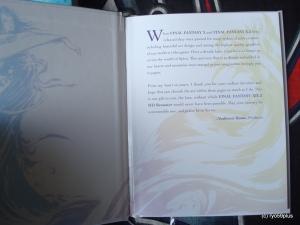 Final Fantasy X/X-2 Hd remaster euro collector intro art book