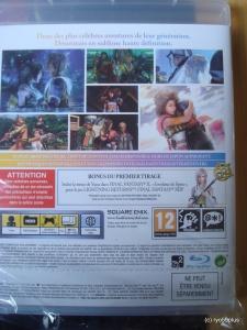 Final Fantasy X/X-2 Hd remaster euro collector gameback