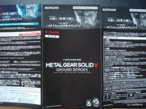 Metal Gear Solid V PS3mini book +DLC