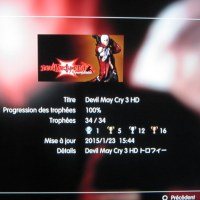 [Trophee] Platine 97: Devil May Cry 3 Hd remaster