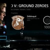 [trophee] Metal gear solid V:Ground zeroes 100% Ps4
